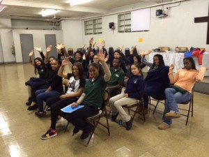 Great photo from Ana's workshop with the Harlem Youth Court!